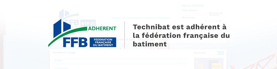 bannière federation franaise du batiment technibat adhérent