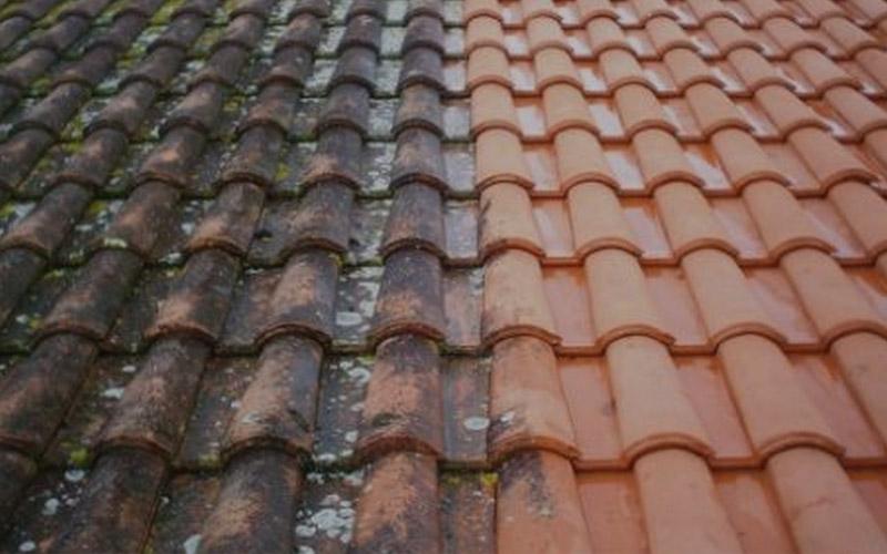 démoussage toiture, hydrofuge, pulverisation